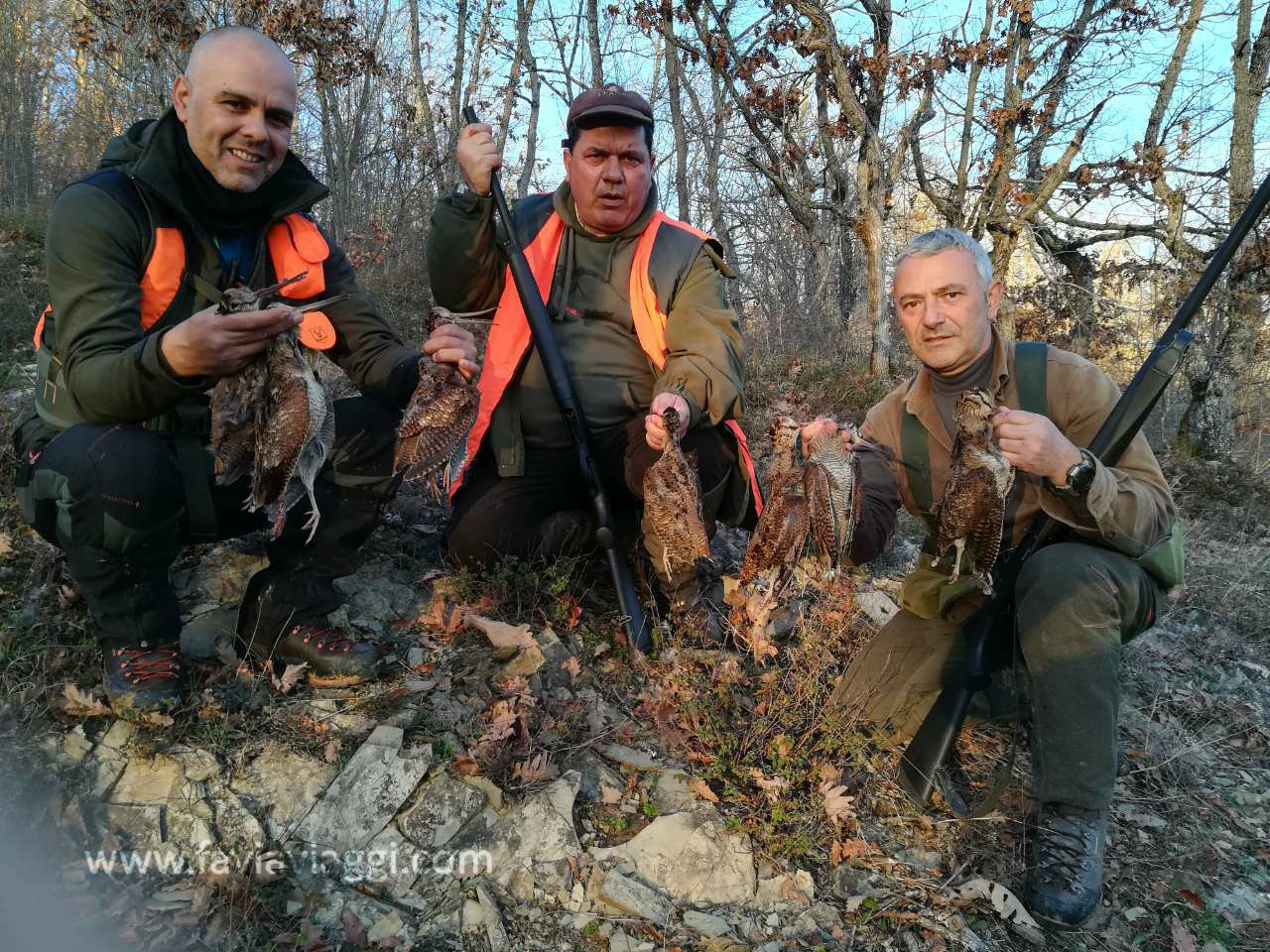 Group Hunt Woodcocks in Bulgaria